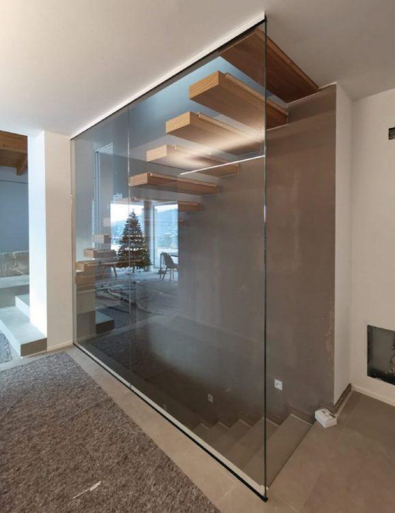 Porte interne e pareti divisorie in vetro
